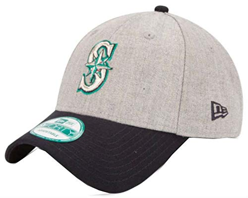 New Era MLB Seattle Mariners The League Heather 9FORTY Adjustable Cap, One Size, Gray