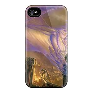 New Shockproof Protection Case Cover For Iphone 4/4s/ Purple Dreamy Dragon Case Cover