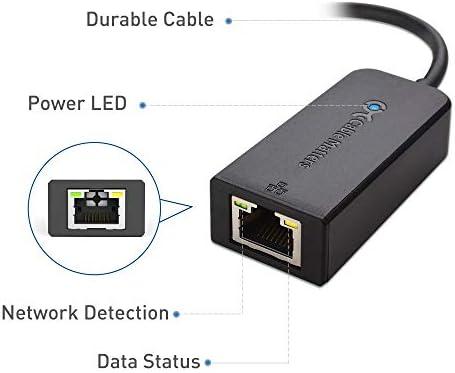 Cable Matters Adaptador USB Ethernet(Adaptador Ethernet USB 3.0/Hub USB 3.0/ Adaptador USB a Ethernet/Adaptador USB 3.0 a Ethernet) Compatible con una Red Ethernet de 10/100/1000 Mbps en Negro: Amazon.es: Informática