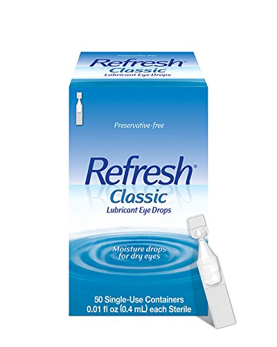 - Refresh Classic Lubricant Eye Drops, 50 Single-Use Containers, 0.01 fl oz (0.4mL) each Sterile