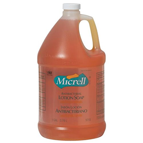 MICRELL Antibacterial Lotion Soap with Moisturizers 1 Gallon Jug Case of 4 (Antibacterial Lotion Soap)