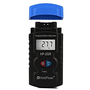 HP-2GR Digital Portable Temperature and Humidity Tester Handheld Hygrometer Thermometer Temperature Range: -50 to +1400℃ Humidity Range: 5~99%RH