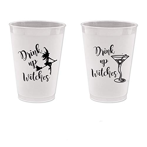 (Halloween Frost Flex Plastic Cups - Drink Up Witches Martini (10)