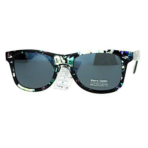 Floral Flower Print Sunglasses Classic Designer Fashion Square Frame