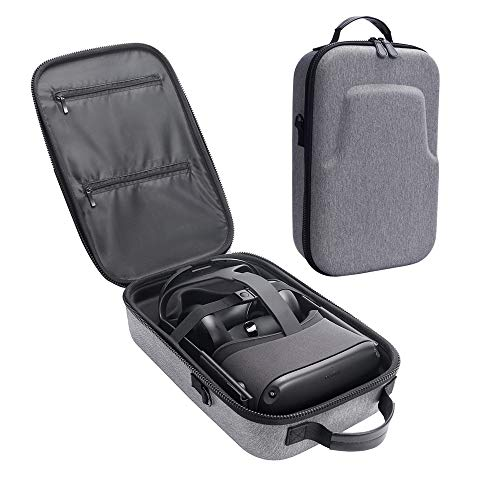 Esimen Fashion Travel Case for Oculus Quest VR Gaming Headset and Controllers Accessories Carrying Bag (Gray) (Cases Bag Accessories)