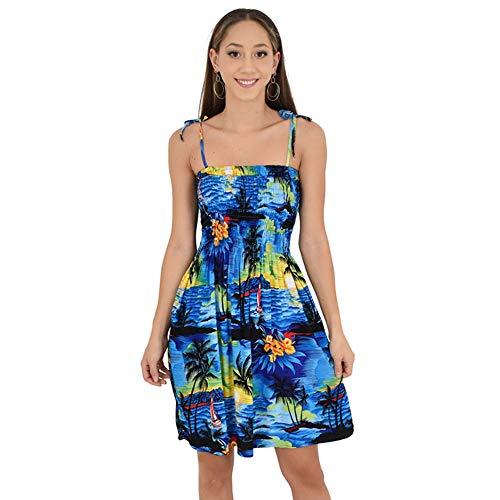 ISLAND STYLE CLOTHING Ladies Tube Dress (Blue SS)