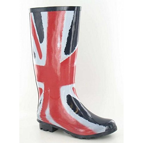 Spot On Womens Union Flag Wellington Boots - Navy/Red Rubber - UK Size 6 - EU Size 39 - US Size 8 vCMSz