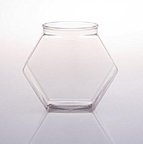FixtureDisplays 30oz PVC Hexagons Jar - 54pk 106125