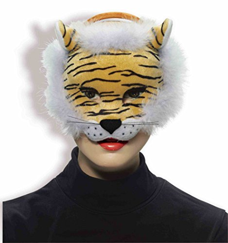 Plus Half Mask (Forum Novelties Deluxe Plush Striped Tiger Animal Half)