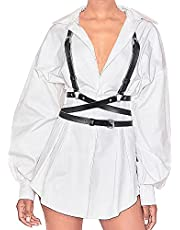 Women Black Tied Waspie Belt, Lace-up Cinch Belt, Corset Elastic Waist Belt for Halloween