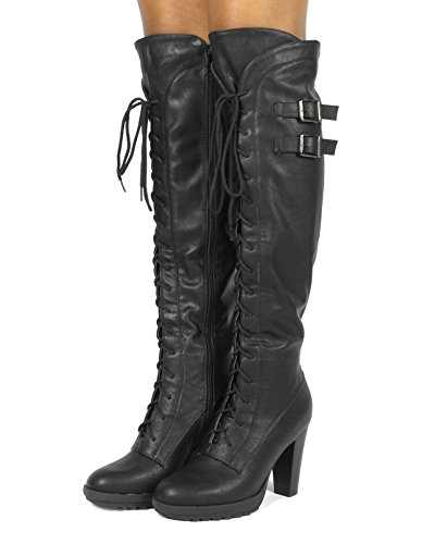 Fashion Black DREAM Women's PAIRS Boots Over The Knee Heel EE8qr6wT