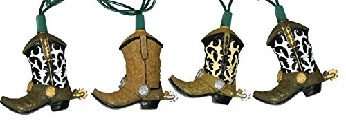 Cowboy Boot 10 Light 10 Foot Party Light Set Rivers Edge