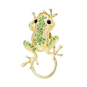 Mother's Day Deals SENFAI 3 Colors Frog Magnetic Clip Holder Magnetic Eyeglass Holder Brooch Jewelry (3)