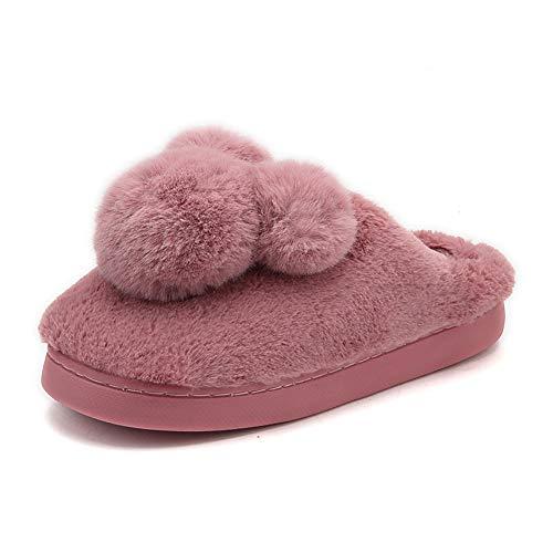 Cotone Invernali Scarpe Slittata Rosso Caldo Bello Uomo Donna Interno Pantofole Bq6fUSq
