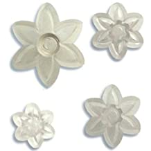 JEM Cutters Jem 6 Petal Daisy Cutters - Set of 4, Transparent