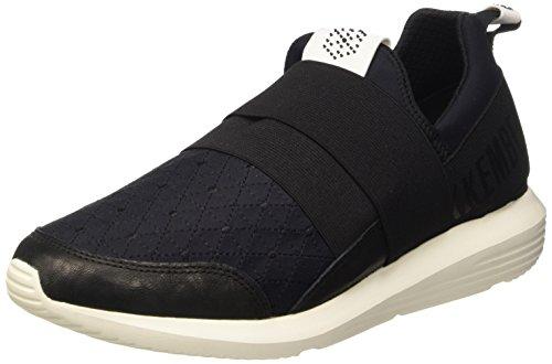 Bikkembergs Speed 582 L.Shoe M Elastic/Lycra, Sandalias con Plataforma para Hombre Negro (Black/Origami Embroidery)