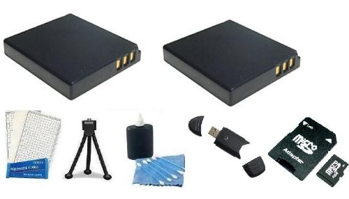 Essential Battery and Accessory Kit includes Replacement Extended BP-S008 + 4gb Memory Card + Mini Tripod + LCD Screen Protectors + Camera Cleaning Kit + USB 2.0 Card Reader For The Panasonic Lumix DMC-ZS5 DMC-ZS7 by Digi