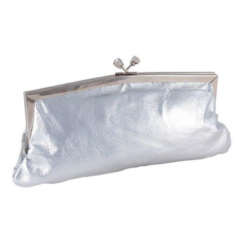 Carlo Fellini – Ivana Evening Bag (31 0006) (Silver), Bags Central
