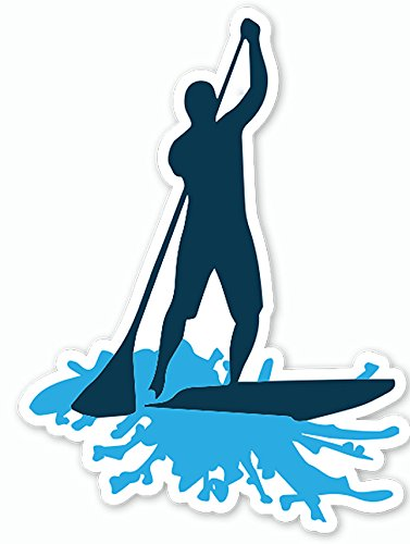 Small Paddle Board (Stand Up Paddle Board SUP Sticker Decal (Small / Blue) by NALU - standup paddleboard)