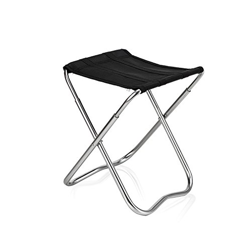 Folding Stool, Crazy Shopping Festival QM-STAR Outdoor Ultralight Foldable Camping Chair Holiday Beach Portable Stool Aluminum Alloy Square Canvas Fishing Stool Portable