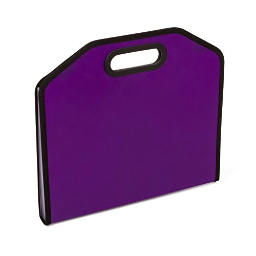 Expanding Portable Accordion File Document Folder File Organizer A4 and Letter Size 7 Pockets Purple