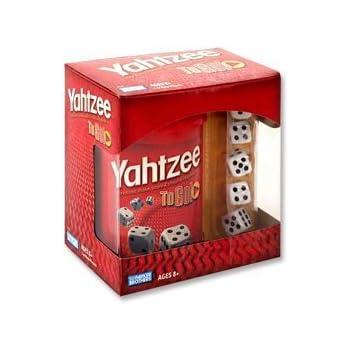Amazon Com Hasbro Yahtzee To Go Travel Game Toys Amp Games