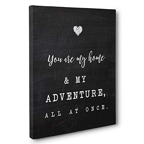 You Are My Home My Adventure Wedding Anniversary Canvas Wall Art