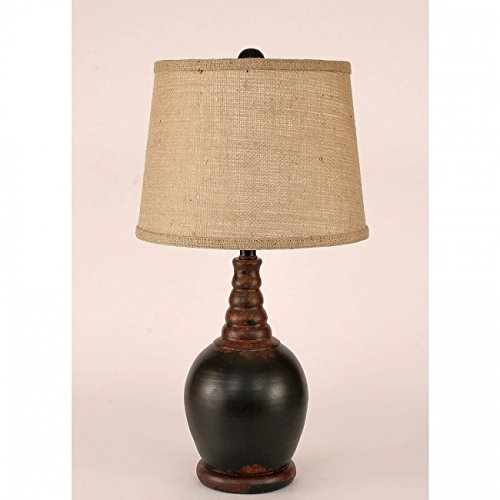Coast Lamp Manufacturer 14-C5C Aged Black Bulbous Accent Lamp - 23.5 (Bulbous Lamp)