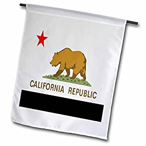 3dRose fl_45014_1 State of California Garden Flag, 12 by 18-Inch