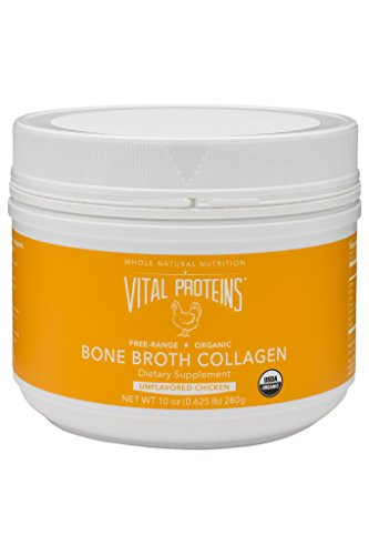 Vital Proteins Organic, Free-Range Chicken Bone Broth Collagen, 10 oz Canister