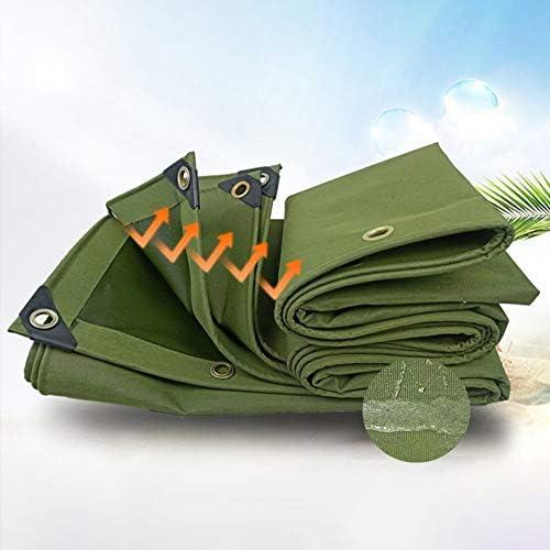 SHIJINHAO 防水シート屋外のキャンバスタープ太い0.85ミリメートル防水サンシェード、風、トラック、ボート屋根カバー、中庭屋根のプール雨のカーテンフェンス (Color : Green, Size : 3.85x6.8m)
