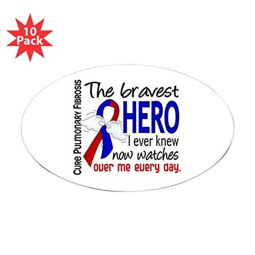 CafePress - Pulmonary Fibrosis Bravest He Sticker (Oval 10 pk) - Oval Sticker (10-pack), Bumper Sticker, Car Decal, Euro Oval