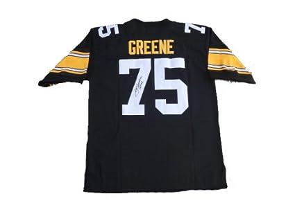 ff3ea78f8c9 Joe Greene Signed Pittsburgh Steelers BLACk Jersey JSA at Amazon s ...