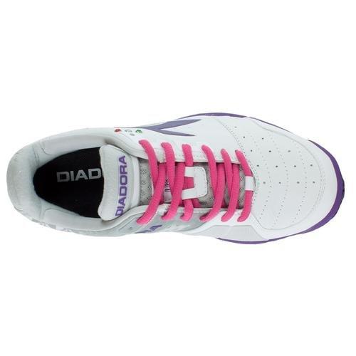 Diadora Women`ss Star K Iii Ag Chaussures De Tennis Blanc Et Violet Hélium- (161736-c54