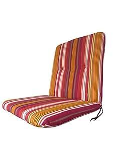 """'Doppler Luxus Baja """"1100–Almohadilla para asiento, multicolor multicolor rayas, 96x 48cm"""