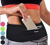 Tirrinia Unisex Running Belt Fanny Pack for iPhone 11 Pro X XS XR 6 7 8 Plus, Runner Workout Belt Waist Pack for Women and Men Walking Fitness Jogging Travel Black/XLarge