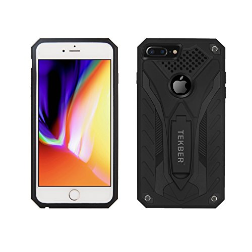 iPhone 8 plus Case, TEKBER Hybrid Hard Back Case with Kickstand Protective Shell Cover for Apple iPhone 7 Plus (2016) / iPhone 8 Plus (2017) (Hybrid Hard Case)