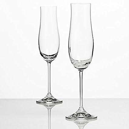 Champan Vasos De Cristal Juego De 2 180 Ml Cristal Elegante