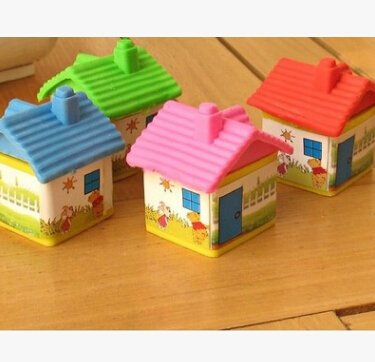 amazon com col dom small house eraser kids learning supplies