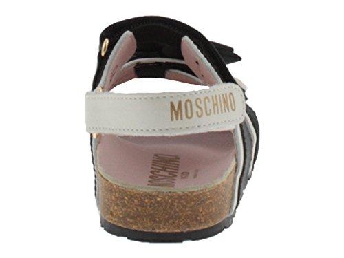 Sandales Nero Moschino Pour Noir Bianco Fille E qaazdxCwn