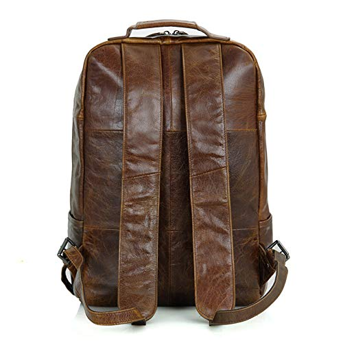 Vintage top layer leather backpack for men and women for simple and nice looking backpack