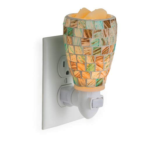 CANDLE WARMERS ETC Pluggable Fragrance Warmer- Decorative Plug-in for Warming Scented Candle Wax Melts and Tarts or Essential Oils, Sea Glass ()