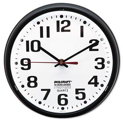 AbilityOne 6645013897958 Slimline Quartz Wall Clock, 9 1/4