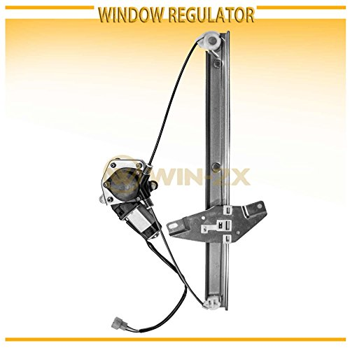 WIN-2X New 1pc Front Driver Left Side Power Window Regulator With Motor Assembly Fit 92-96 Toyota Camry 4-Door Sedan/Wagon