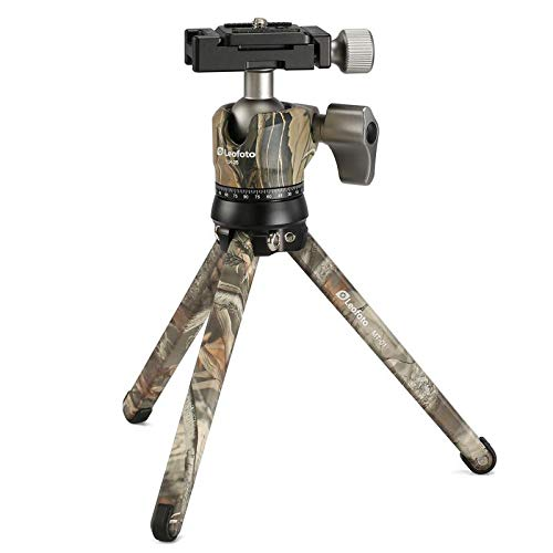 Leofoto CAMO MT-01 & LH-25 Head Table Top Tripod Kit/Pocket Pod Super Stable Ideal for Compact Camera