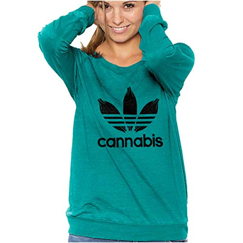 Cannabis Weed Logo Funny Stoner Marijuana Vintage Fashion T (Shirts With Weed Logo)