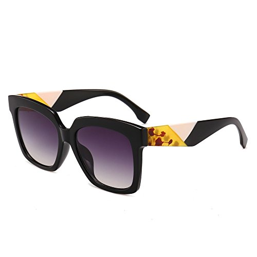 sol calidad UV400 de gafas Grande de mujer Unas de alta gafas negro TL Piazza Sunglasses enormes sol verano mujeres qBUpnw6Z
