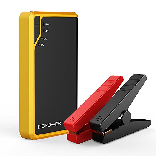 Price comparison product image [Ultra Compact] DBPOWER 300A Peak 8000mAh Portable Car Jump Starter (Only for Gas Engine up to 2.5L) Auto Battery Booster Charger Portable Phone Charger Built-in LED Flashlight (Yellow)