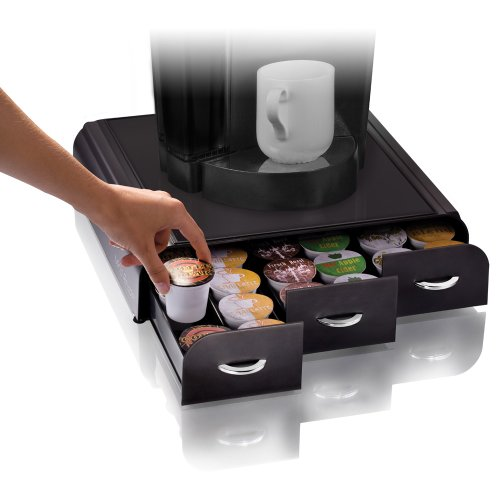 "Mind Reader ""Anchor"" Coffee Pod Storage Drawer for 36 Keurig K-Cup, 42 CBTL/Verismo Coffee Pods, Black"