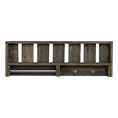 Del Hutson Designs Reclaimed Wood Versatile Bathroom Hanger Shelf - Displays pictures, books, and other decor Handmade in USA using high quality reclaimed wood Adds beautiful rustic accent to home - shelves-cabinets, bathroom-fixtures-hardware, bathroom - 41siE88OBJL. SS400  -